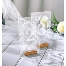 Номерок на стол №21 прозрачный